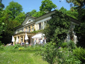 La Villa Lindenegg vue depuis le jardin