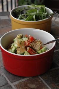 Salade à la truite fumée