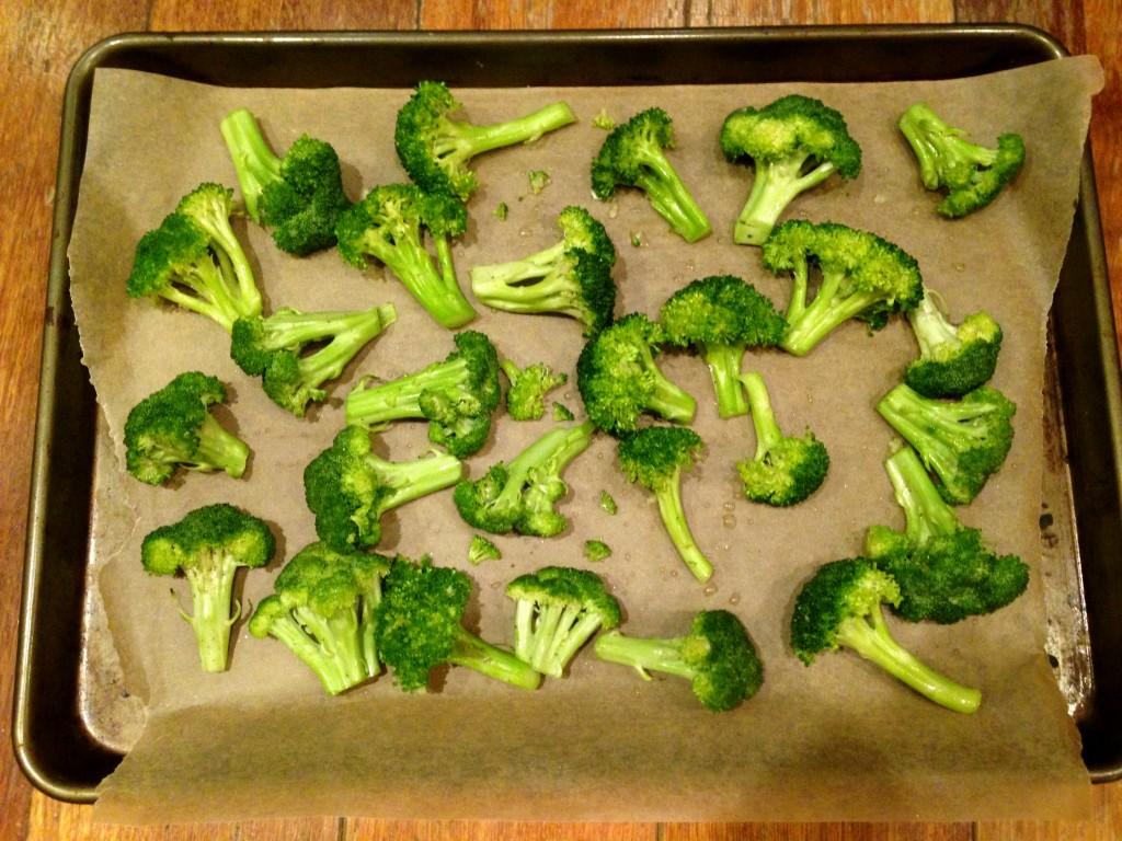 Fleurettes de brocoli avant cuisson