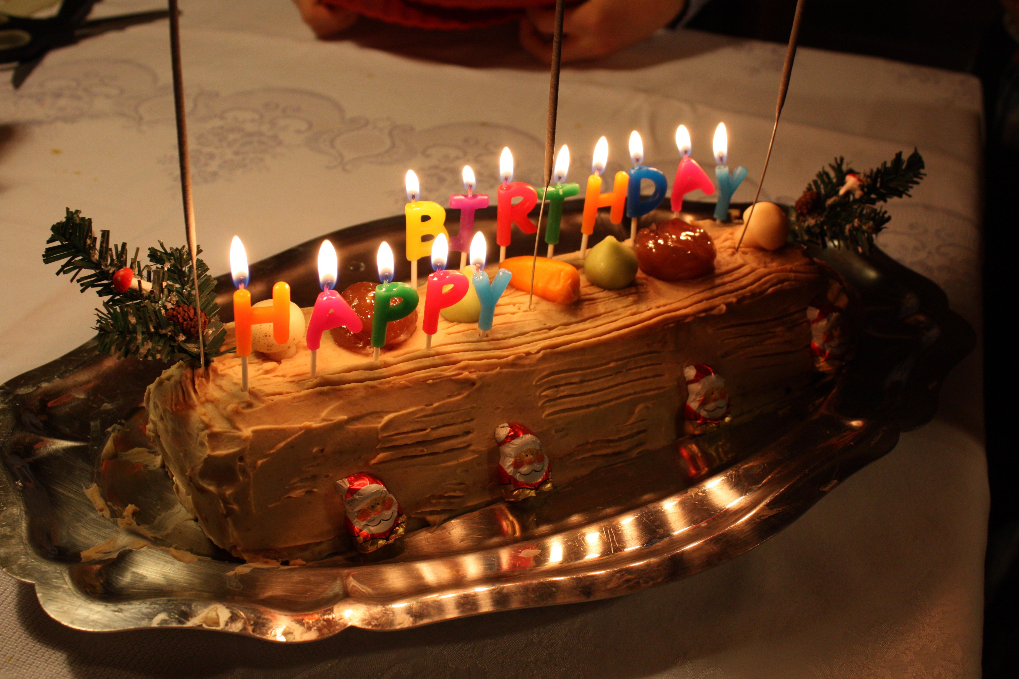 Fêter son anniversaire le jour de Noël...